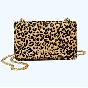 New with tags Kat crossbody leopard calfskin